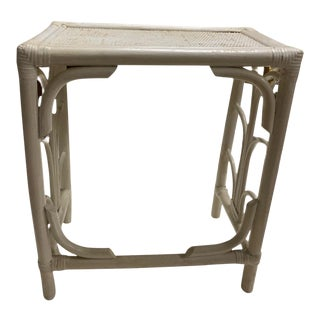 Vintage Bentwood Bamboo Side Table For Sale