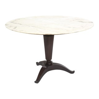 Italian Modern Onyx and Walnut Center or Dining Table by Paolo Buffa For Sale