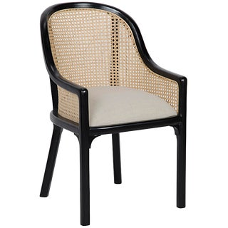 Gaston Chair, Hand Rubbed Black For Sale