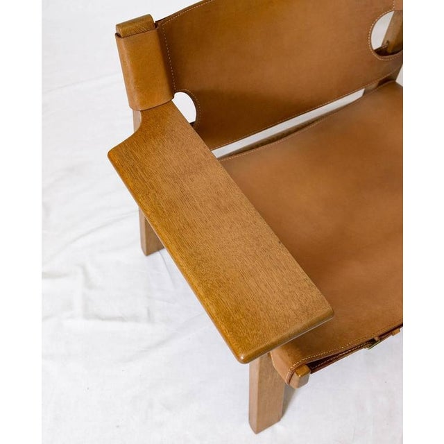 """Pair of Børge Mogensen """"Spanish"""" Chairs For Sale - Image 9 of 10"""