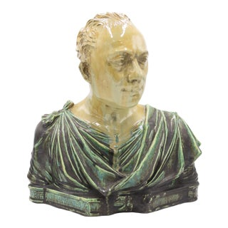 Italian Neo-Classic Roman Nobleman Bust For Sale
