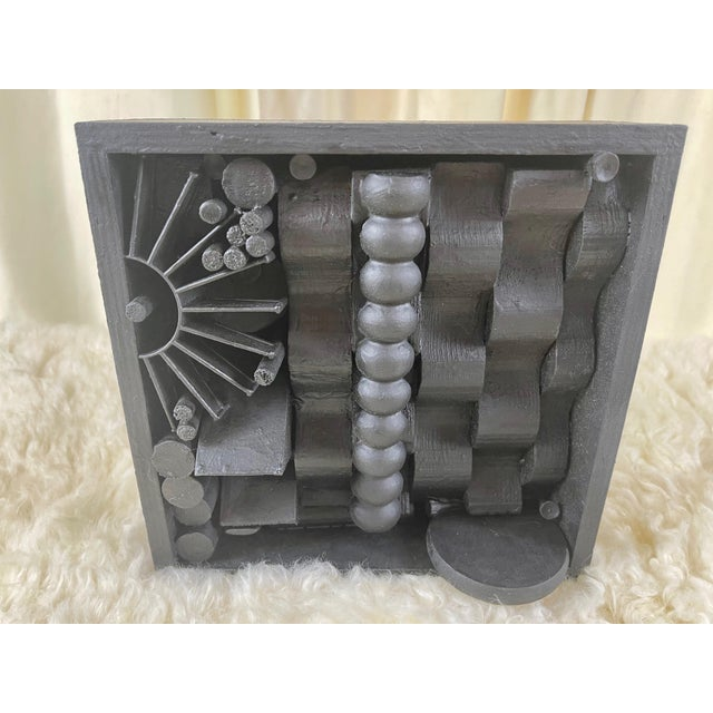 Stunning Assemblage Sculpture in the style of Louise Nevelson. Can be hung in any orientation with pre-installed 4 hangers...
