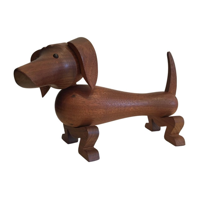 Kay Bojesen Vintage Danish Teak Dachshund For Sale