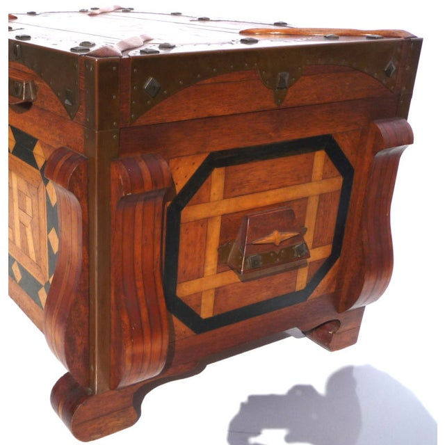 Phenomenal Parquetry & Brass Blanket or Hope Chest - Image 5 of 10