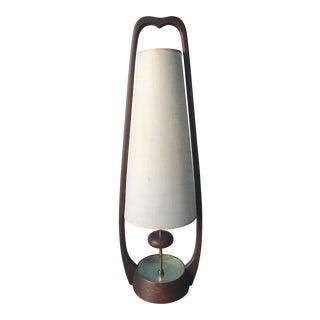 1960s Mid-Century Modern Modeline Walnut Sculptural Lamp