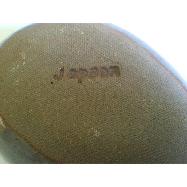 Black Vintage Mid-Century Modern Jepson Studio Pottery Pressed Teardrop Bowls - Set of 4 For Sale - Image 8 of 9