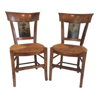 18th Century Vintage French Chairs- A Pair For Sale