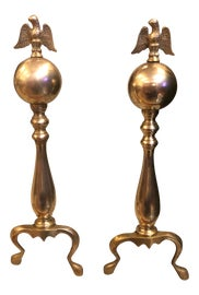 Image of Gold Andirons and Chenets