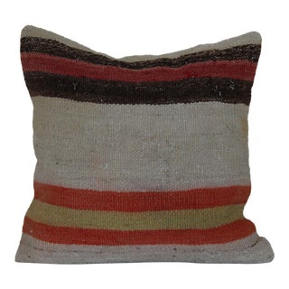 Antique Kilim Rug Pillowcase For Sale