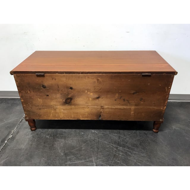 Wood Antique Blanket Chest For Sale - Image 7 of 11