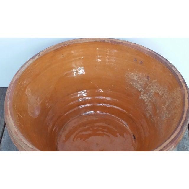 French Antique Glazed Terrecotta Tian Bowl - Image 7 of 9