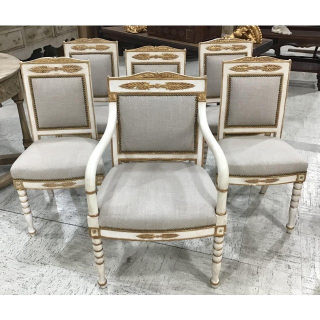 Set of 6 19th Century French Empire Chairs For Sale - Image 9 of 10