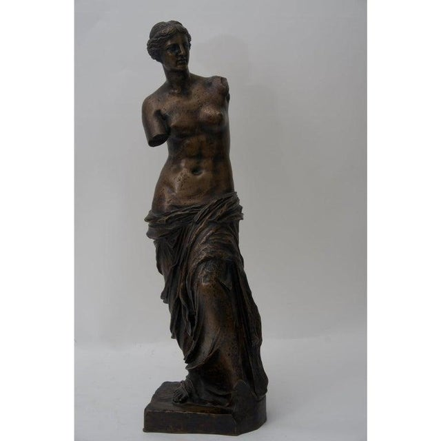 Mid 19th Century Antique F. Barbedienne Venus De Milo Bronze Sculpture For Sale - Image 5 of 11