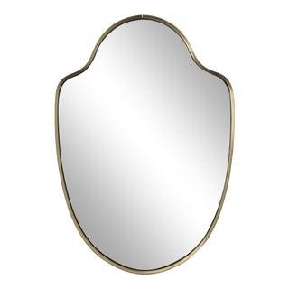 Italian Mid-Century Brass Finish Mirror For Sale