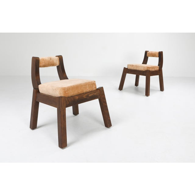 Wood Italian Walnut Dining Chairs - 1950s For Sale - Image 7 of 10