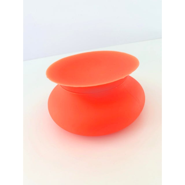 Contemporary Modern Orange Silicone Vessel For Sale - Image 3 of 7