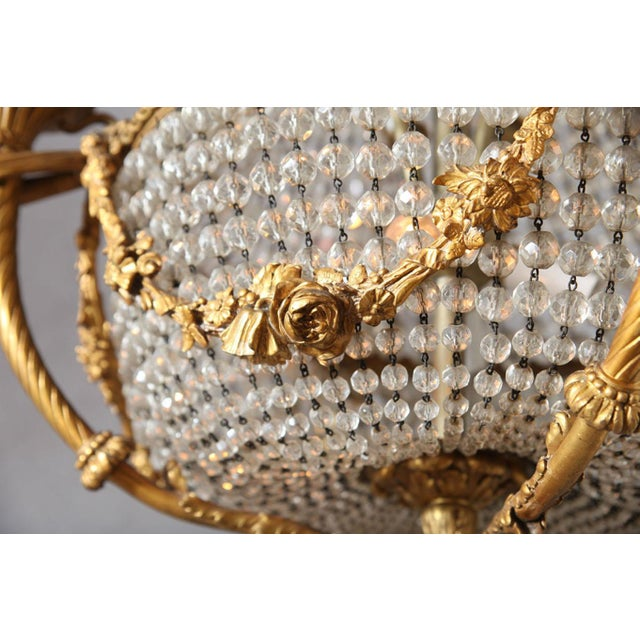 Fine Bronze and Crystal Period Empire Chandelier For Sale In West Palm - Image 6 of 10