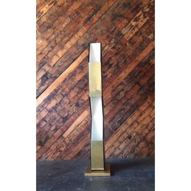 Vintage Sculptural Gold & Black Floor Lamp - Image 3 of 8