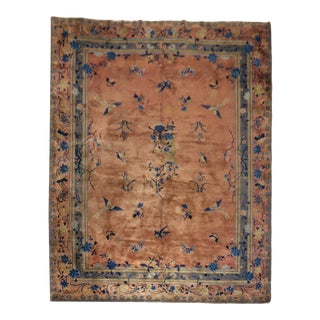 Stunning Chinese Penny Gray Room Size Rug, 9' X 11'8'' For Sale