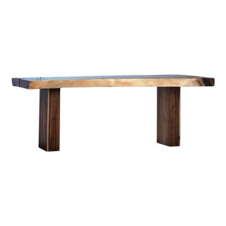 Tropical Wood Slab Dining Table For Sale