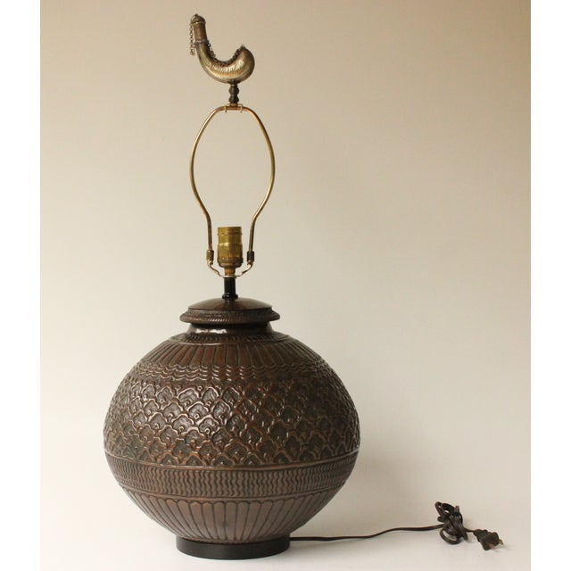 Tribal Repousse Table Lamp - Image 5 of 7