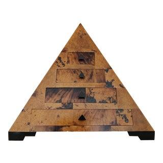 Vintage Oggetti Pyramid Jewelry Box For Sale
