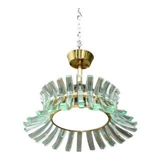 Antique designer fontana arte lighting decaso rare fontana arte glass chandelier italy 1950s aloadofball Images