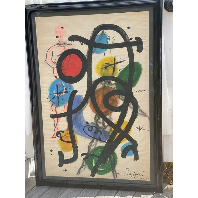 1960s Modern Abstract Painting by Peter Kiel For Sale - Image 5 of 5