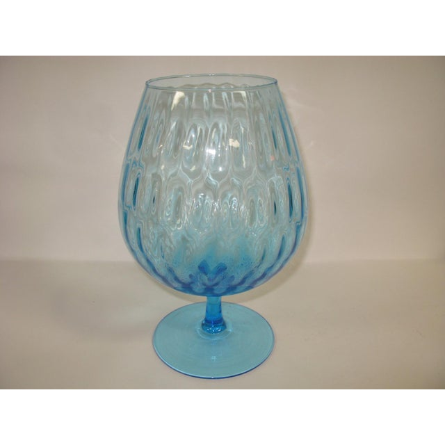 Gorgeous color! Brilliant peacock blue color and in Perfect Condition.It can be used for potpourri, as candle holders, or...