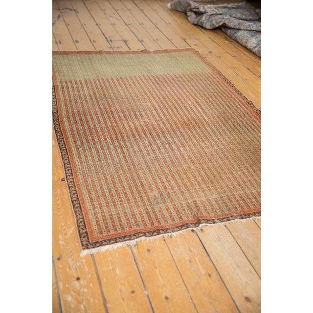 "Textile Antique Fine Senneh Rug - 4'3"" X 6'2"" For Sale - Image 7 of 13"