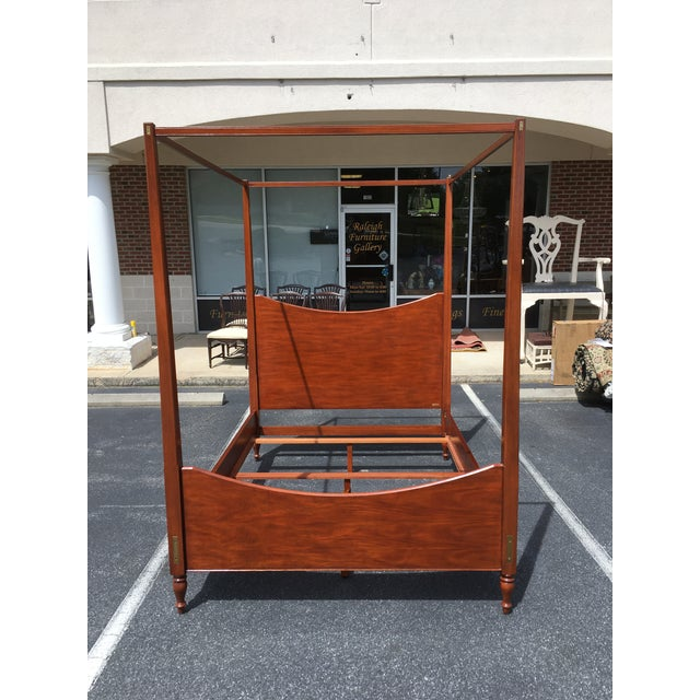 Ralph Lauren Queen Size Poster Bed With Canopy For Sale - Image 10 of 10