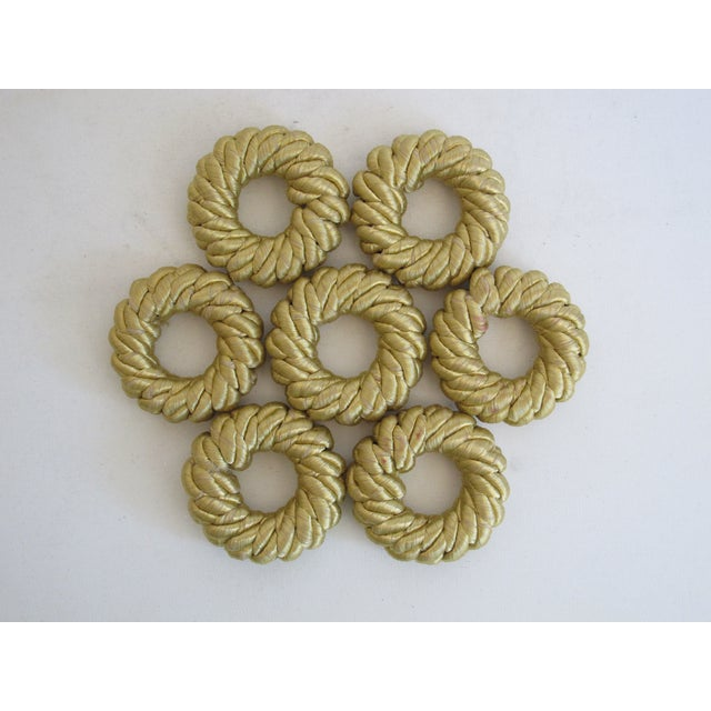 Gold Rope Napkin Holders - Set of 7 - Image 5 of 5