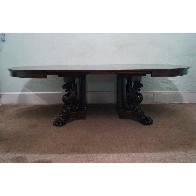RJ Horner Antique Round Oak Griffin Dining Table - Image 9 of 10