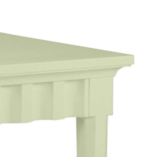 Features a carved scallop pattern design. The color is Benjamin Moore Guilford Green with a semi-gloss finish. Made of...