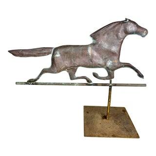 Dexter Copper Horse Weathervane on Steel Base For Sale
