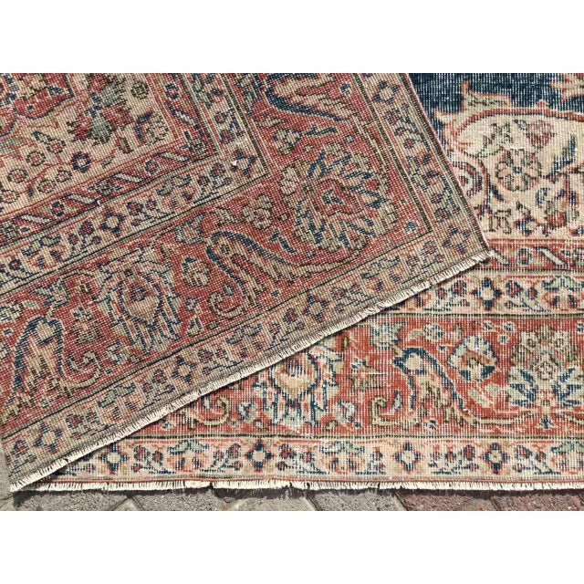 Large Distressed Oushak Rug For Sale - Image 12 of 13