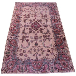 Vintage Turkish Anatolian Area Rug - 4′1″ × 7′2″ For Sale