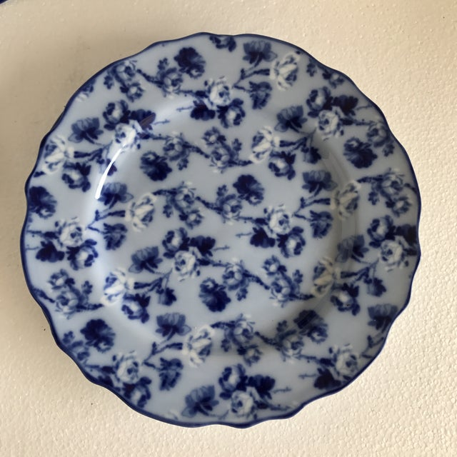 Harry & David Blue and White Rose Dishes - Set of Six For Sale - Image 5 of 10