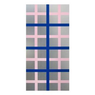 """Daniel Göttin """"Double Grid 4, 2016"""", Mixed Media For Sale"""