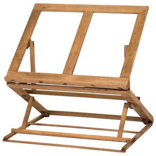 Collapsable Oak Folio Stand From Late 19th Century England For Sale