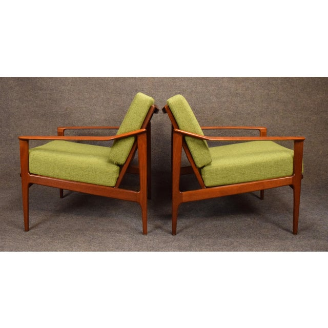 1960s 1960s Mid Century Modern Teak Lounge Chairs - a Pair For Sale - Image 5 of 11