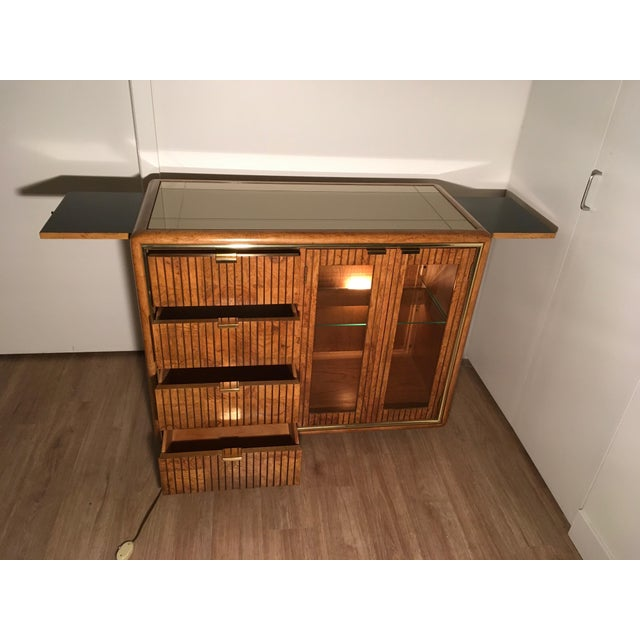 American of Martinsville Lighted Bar Cabinet - Image 8 of 10