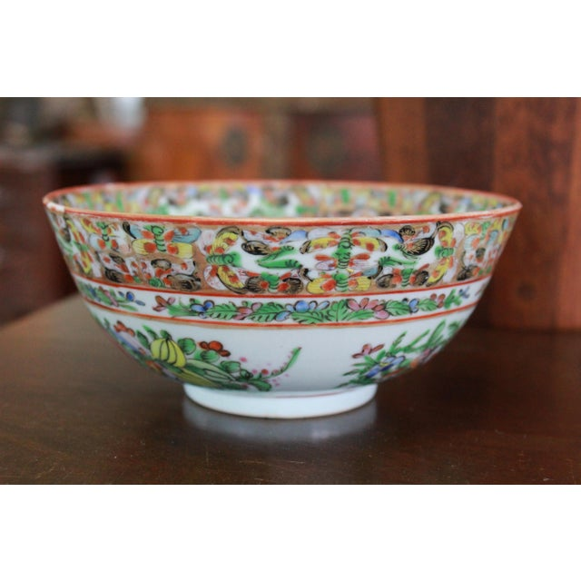 Asian Vintage Chinese Famille Bowl For Sale - Image 3 of 9
