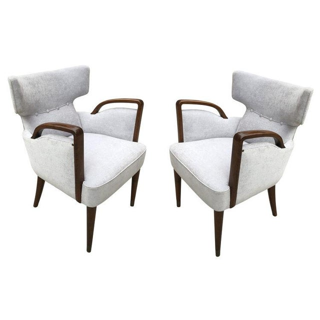 Wood Melchiorre Bega Armchairs Model 511 For Sale - Image 7 of 7