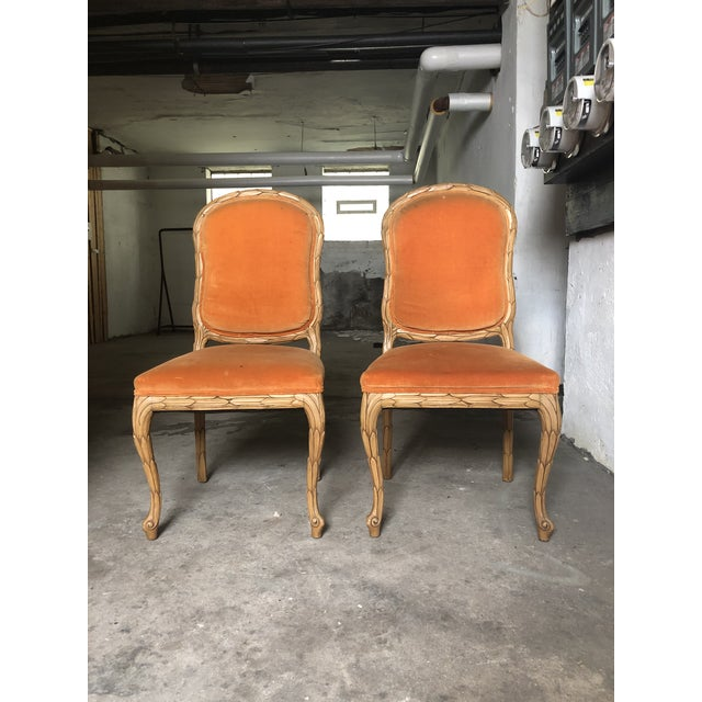 Carved Palm Beach Style Dining Side Chairs- a Pair For Sale - Image 13 of 13