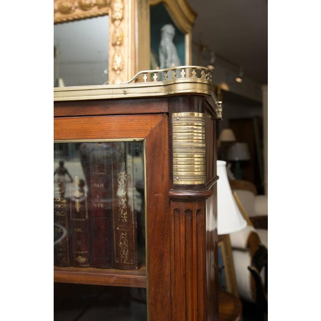 19th Century, Louis XVI Style Mahogany Bookcase For Sale - Image 4 of 10