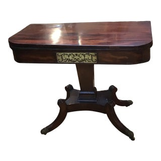 English Antique Regency Games Tables in Mahogany - a Pair For Sale