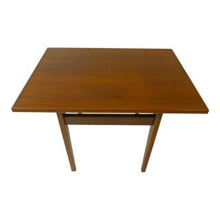 Jens Risom Vintage Mid-Century Walnut Side Table