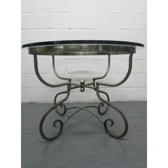 Mid-Century Modern Italian Iron Centre Table Stlye of Alberto Orlandi For Sale - Image 3 of 7