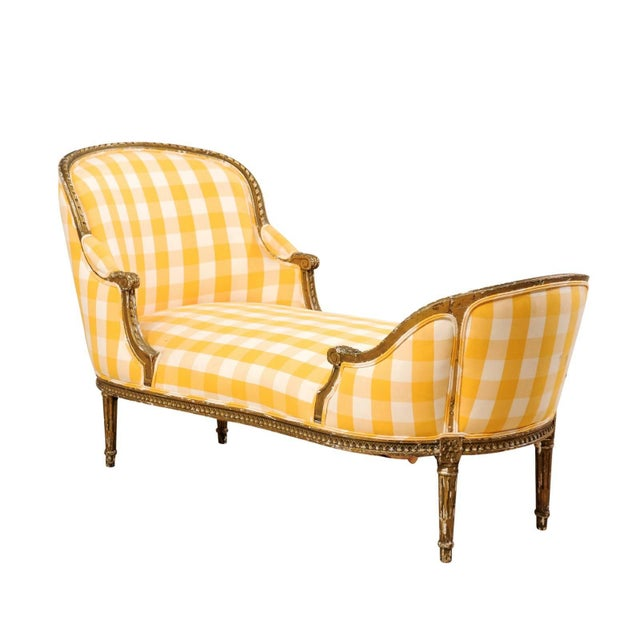 Turn of the Century French Louis XVI Style Chaise For Sale - Image 11 of 11